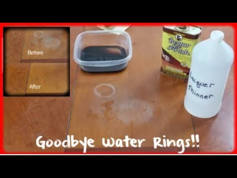 Heat Stains From Wood Furniture, How To Remove White Water Stains From Wood Furniture